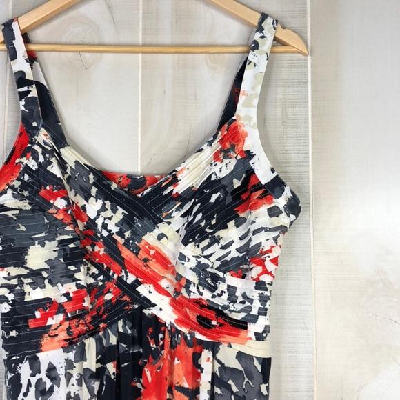 9028534afe92 Robbie Bee Floral Print Tank Maxi Dress Size L. M 5ab0037800450f0821f035aa
